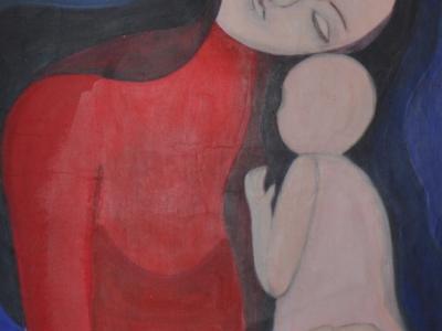 Mutter und Kind von Barbara Bulander